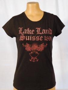 Lakeland T-Shirt mit Steinen versetzt schwarz