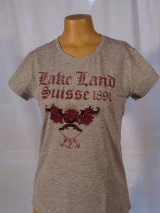Lakeland T-Shirt mit Steinen versetzt grau