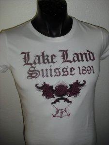 Lakeland T-Shirt mit Steinen versetzt weiss