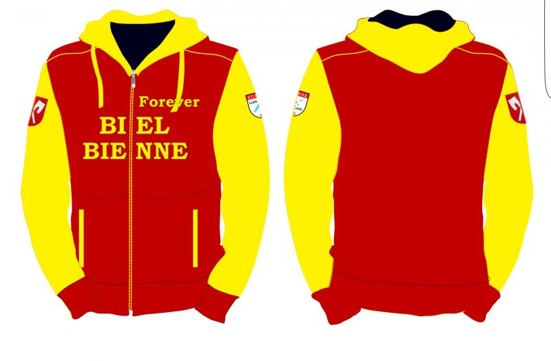 Biel-Bienne Jacke gelb-rot