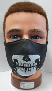 Mundschutz mit Druck Skelett Gebiss
