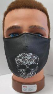 Mundschutz mit Druck Schädel