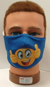 Mundschutz mit Druck Smiley Emoji